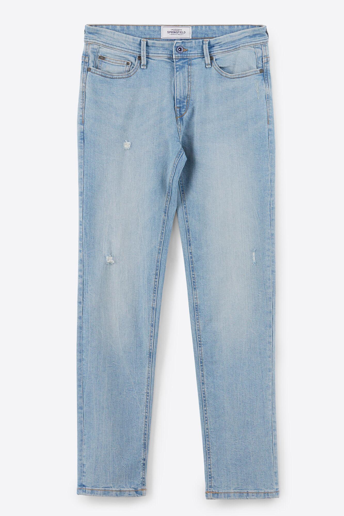 Springfield CLARO - Vaqueros slim fit - dark-blue denim tQ6rbgX8V